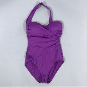 Tommy Bahama Purple One Piece Swimsuit